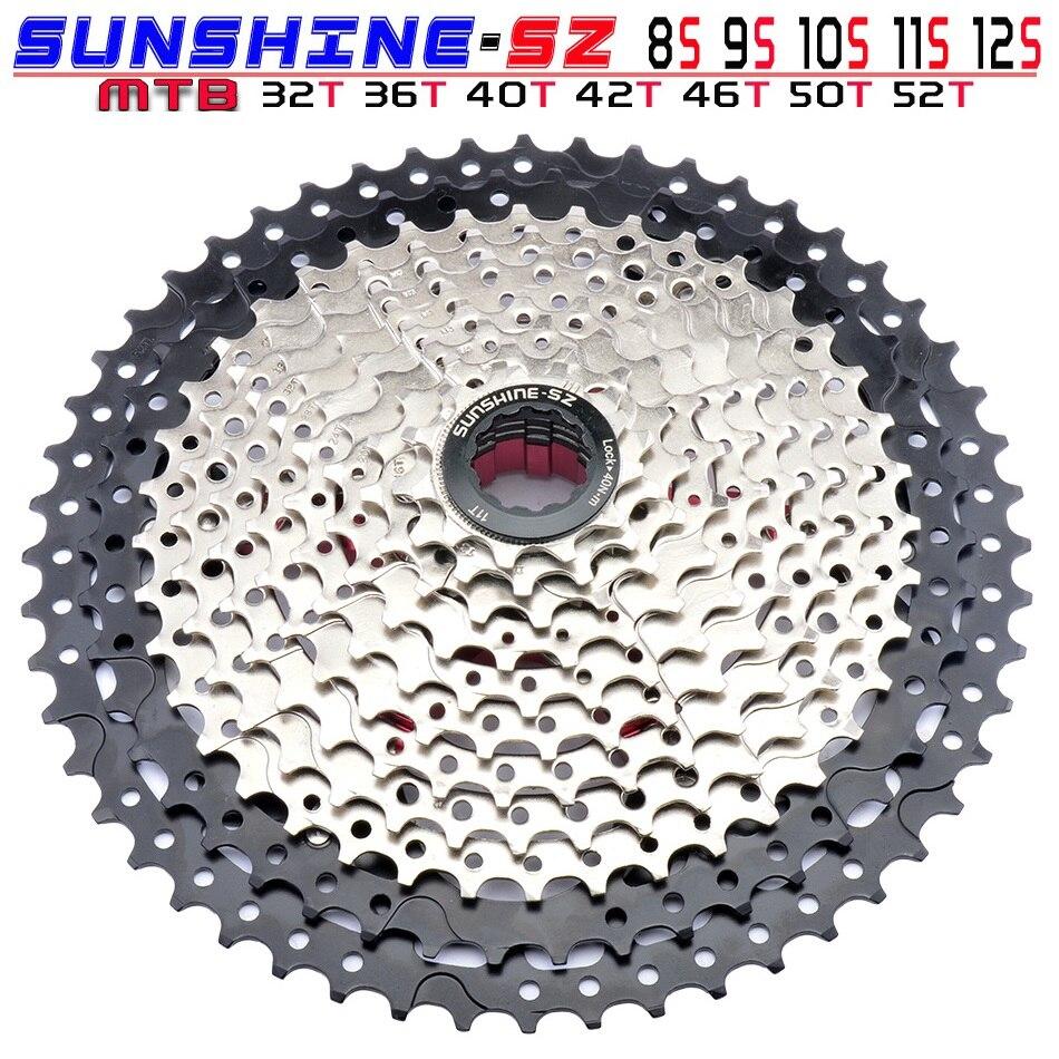 MTB 8 9 10 11 12 Velocidad Cassette amplia relación de rueda libre de bicicleta de montaña piñón 11-32/36/40/42/46/50/52T Compatible con Shimano