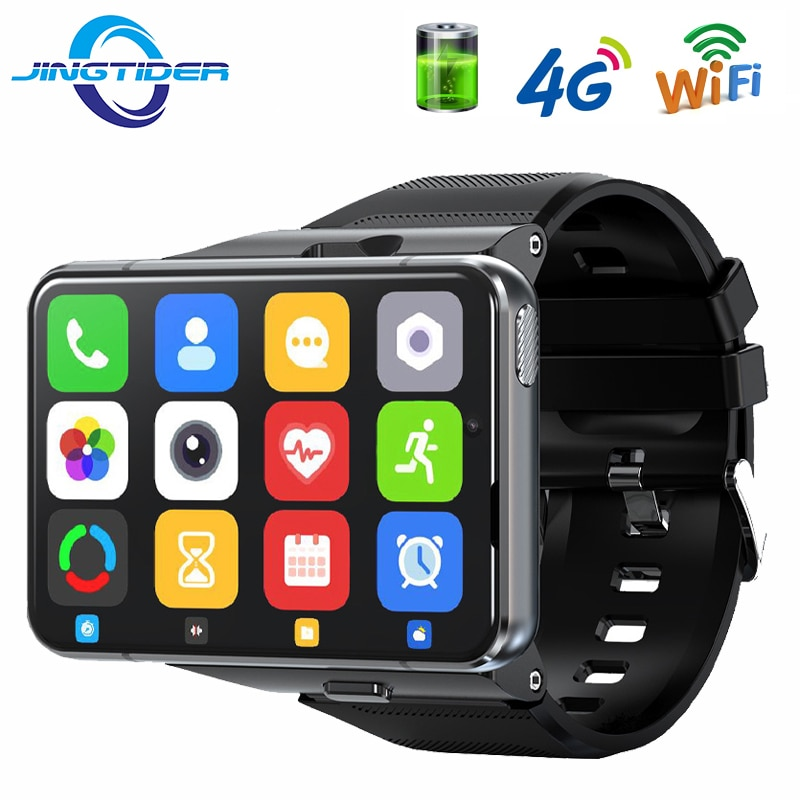 Promo JingTider S999 4G Smart Watch MTK6761 Quad Core 4GB Ram 64GB Rom Smartwatch Phone 2.88″ Large Screen Men Watch 2300mAh Android 9