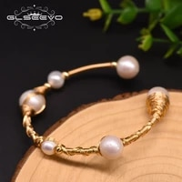 glseevo natural baroque freshwater pearl hairpin ladies wedding party flower shaped handmade fashion jewelry gb0192