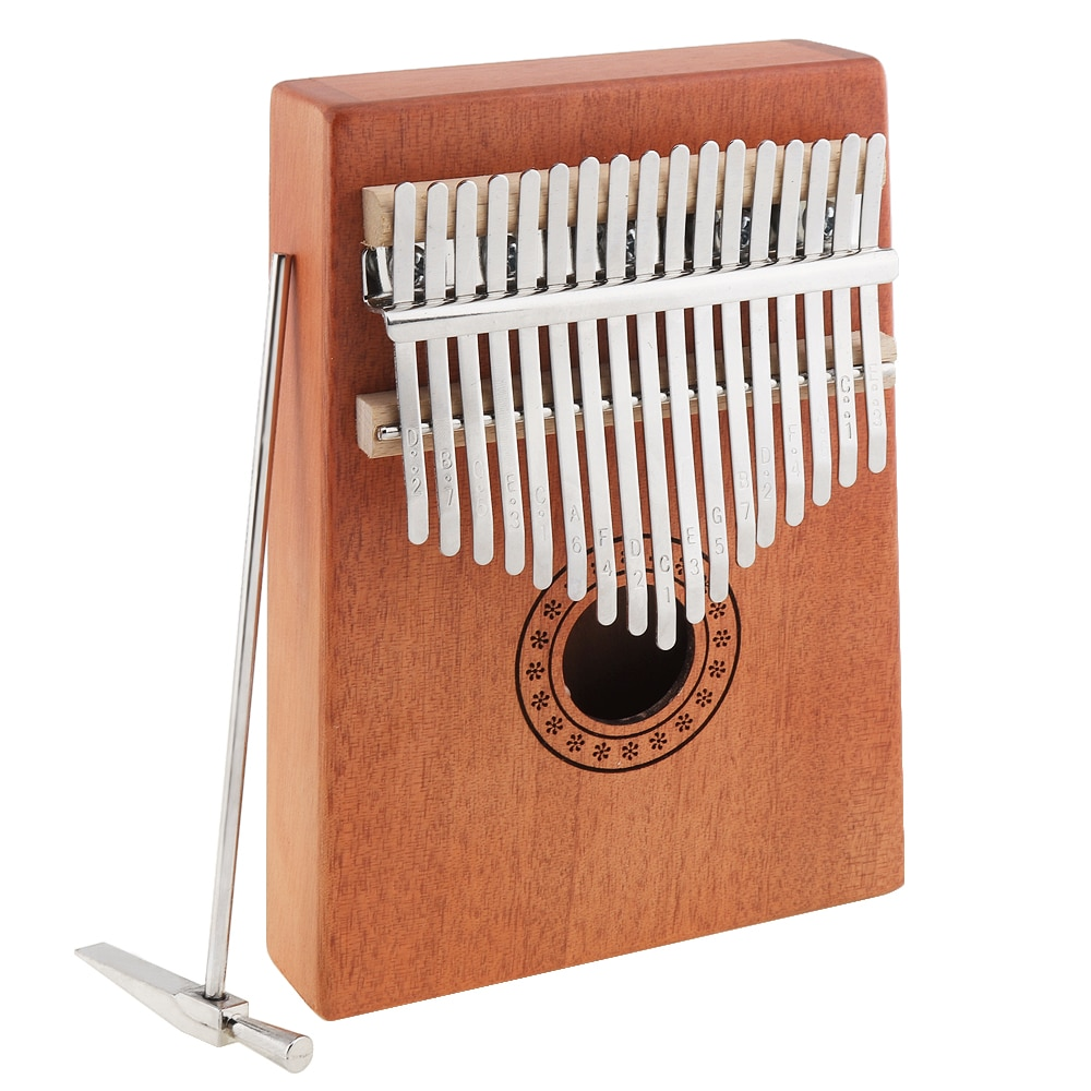 17 Key Kalimba Thumb Finger Piano Single Board Mahogany Thumb Piano Mbira Mini Keyboard Instrument with Complete Accessories enlarge