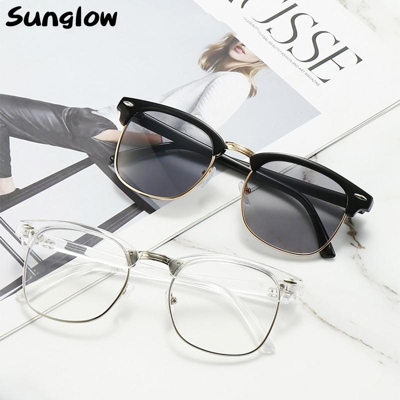 Sunglow Man Sunglasses 2021 Summer,Fashion Eyewear Women,Vintage Shades,Hundreds of Color Combinatio