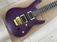 Guitare électrique chinoise, personnalisée, couleur violette, 24 frets, en stock 11