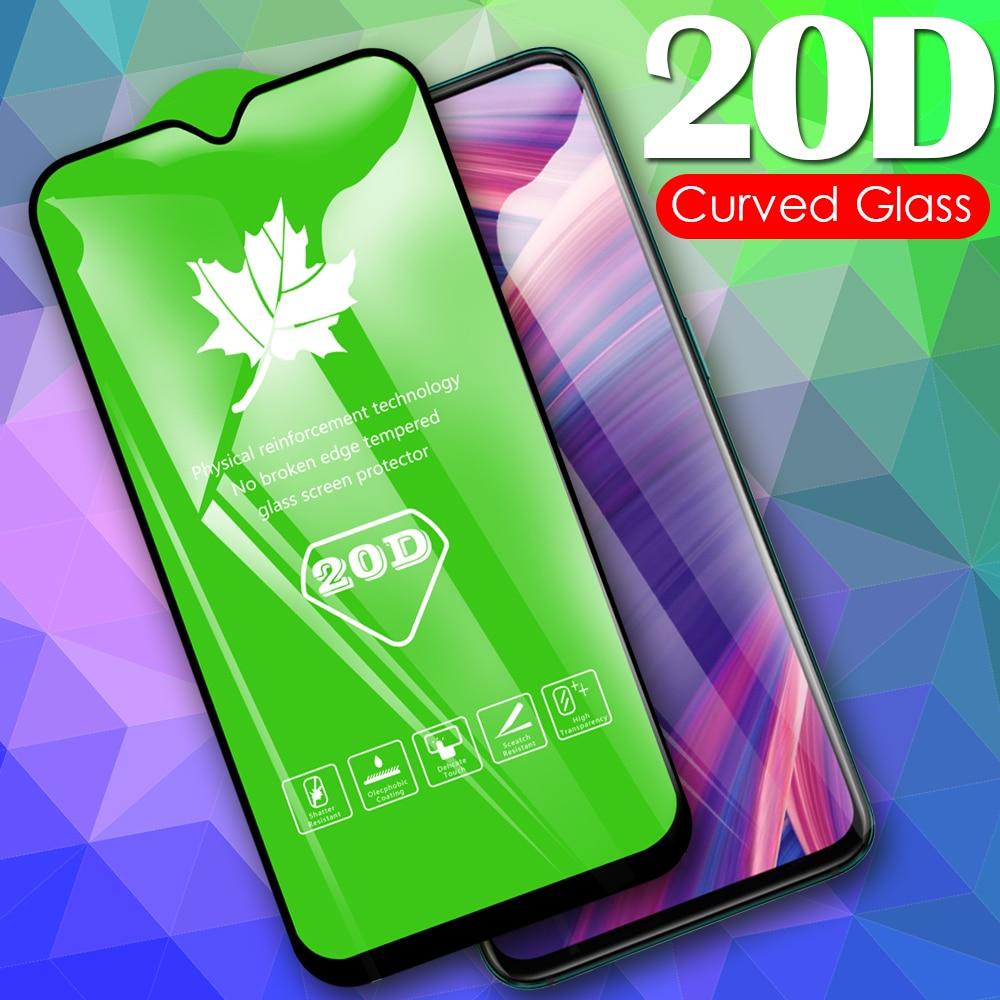 Protector de pantalla de vidrio templado 20D para OPPO Find X2 Lite R15x R15 RX17 R17 Neo F15 F11 Pro película protectora completa de vidrio