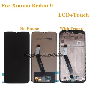 6.53'' Original display For Xiaomi Redmi 9 LCD Display Touch Screen Digitizer Assembly For Redmi9 LCD With frame 100% test