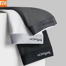 Xiaomi mijiaグラフェン男性下着パンティ男ボクサーショーツaaa抗菌氷の絹のパンティー男性のブリーザーパンツ3ピース/ロット