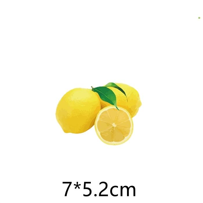 Parches de limones bordados para planchar, Parches para ropa DIY, ropa de rayas, pegatinas de OVNI, Parches con símbolo AB46