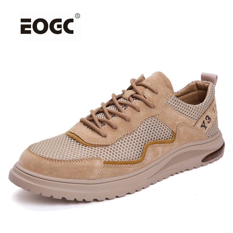 Suede Leather Men Shoes Lace Up Flat Shoe Classic Comfortable Soft Casual Shoes Spring Autumn Walking Shoes Men clax men shoes genuine leather spring autumn casual shoe male leather shoe walking footwear soft black fashion