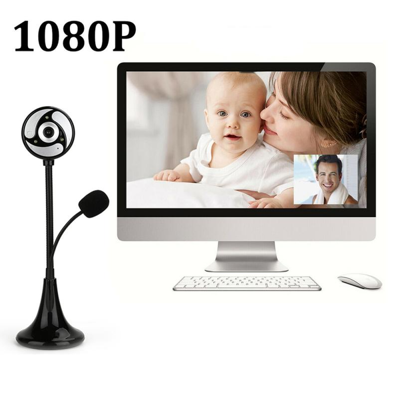 USB Webcam 1080p For PC Laptop Camara Microphone Drive-free Camara Videoconferencia Online Teaching веб камера