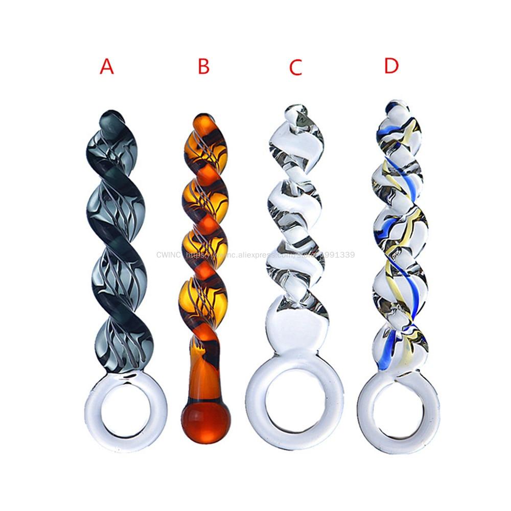 Juguete sexual CW0151 tapón anal cristal Vaginal ano hecho en espiral