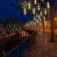 christmas ornaments for the tree rain lamp meteor shower rain lights 30cm 8 tubes for xmas holiday party wedding eaves decor