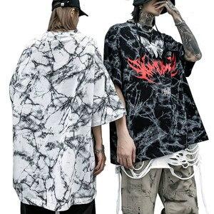Men's Hip Hop Printed T-shirts Oversize Streetwear Short Sleeve T-Shirt Men Women Harajuku Punk Rock Style Trend Tshirt Camiseta