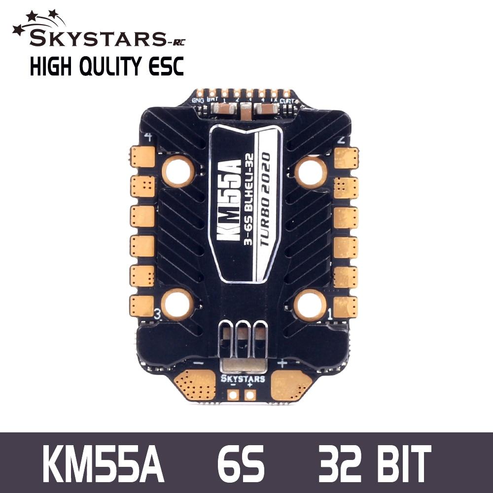 Skystars KM55 4IN1 55A ESC DSHOT600/1200 Blheli_32 3-6S الإلكترونية سرعة المراقب المالي ل RC الطائرة بدون طيار FPV سباق