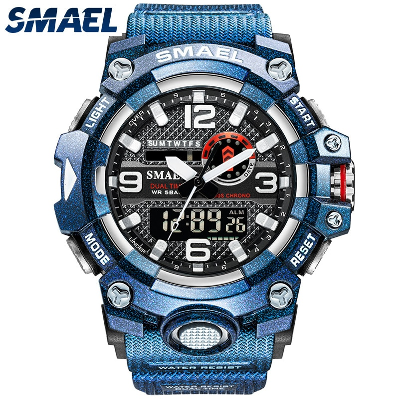 Men's Watches Waterproof SMAEL Top Brand Quartz Wristwatches Military relogio masculino 8035 Digital Male Clock Sport Watches