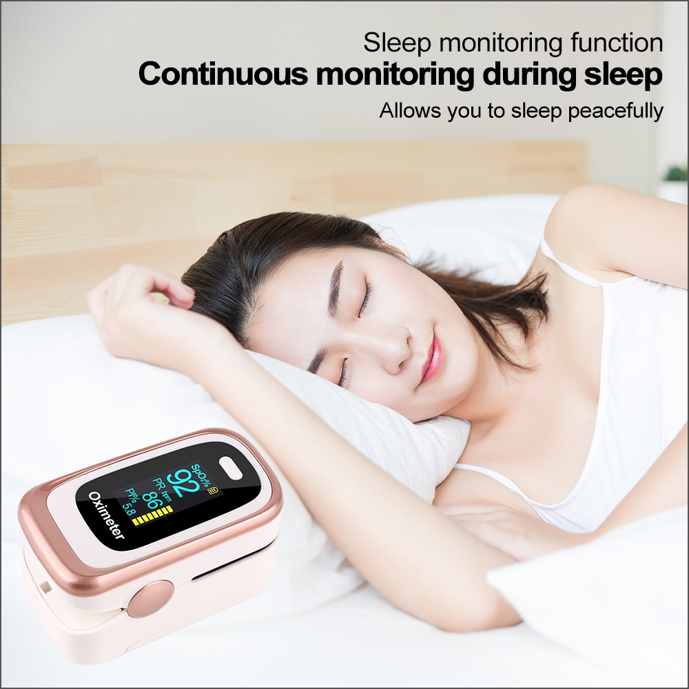 RZ Finger Pulse Oximeter Digital Pulsioximetro Portable Household Health Monitor Heart Rate SPO2 PR Sleep Monitor Pulse Oximeter