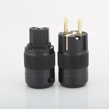 Hifi Audio 5pairs Hifi- End Gold Plated  EU Power Plug & IEC Connector plug  for DIY power cable