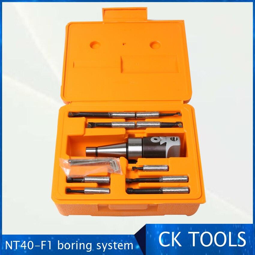 أعلى جودة NT40 M16 أربور F1 -12 50 مللي متر مملة رئيس و 9 قطعة 12 مللي متر القضبان مملة ، مملة رئيس مجموعة