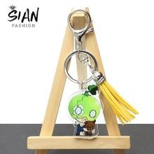 Anime Dr.STONE Acrylic Tassel Keychain Pendant Holder Senku Ishigami Cartoon Figures Keyrings for Ba