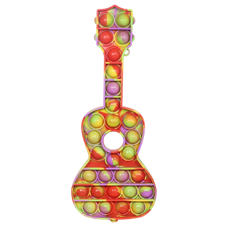 ready to ship! Waterproof Fidget Toys Poppit Bubble Pop Sensory Toy For Adult Kids Stress Reliever gift guitar games enlarge