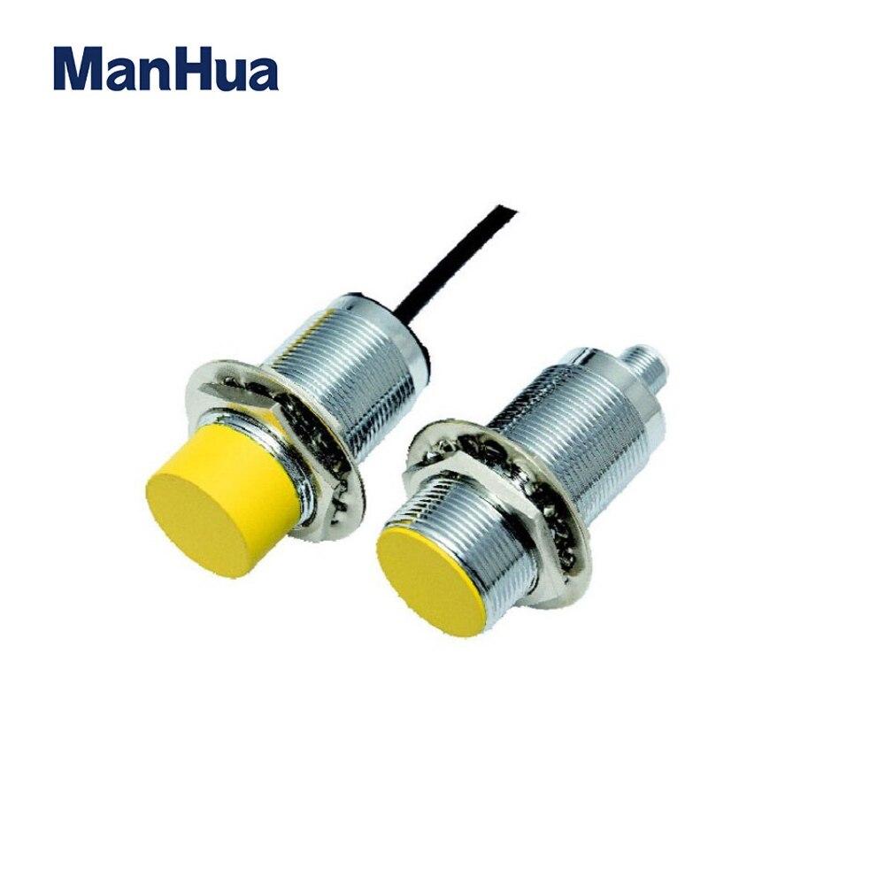 ManHua compras en línea PVC inductivo proximidad interruptor cilíndrico vivienda M30 inductancia Sensor de aleación 10 ~ 30 VDC interruptor del Sensor