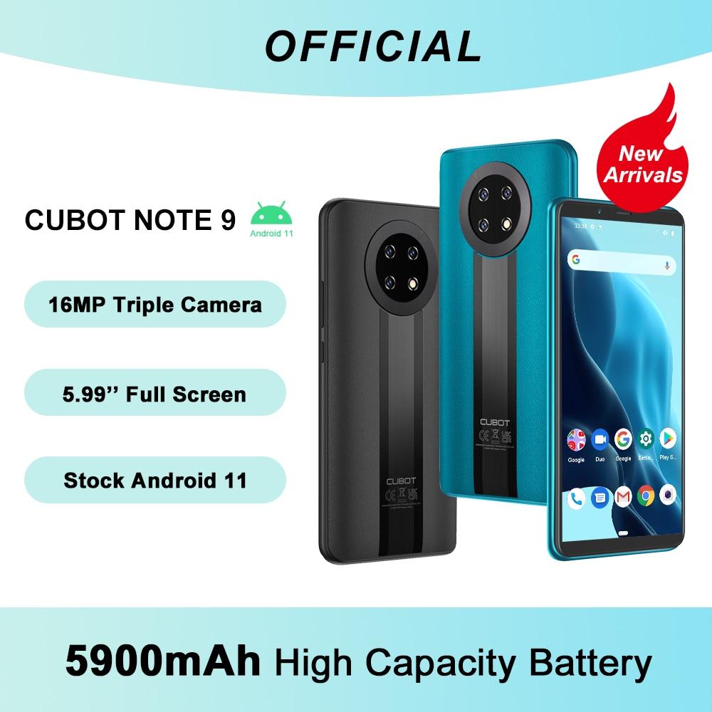 Cubot Note 9 Smartphone 5900mAh Battery Octa Core Mobile Phone 5.99