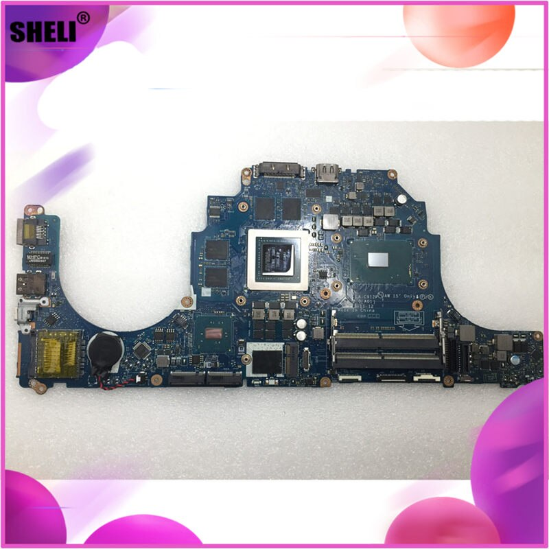 SHELI для Dell Alien-ware 17 R3 15 R2 материнская плата с I7-6820HQ GTX980M 8GB LA-C912P