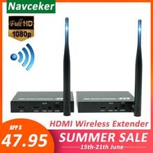 196ft Senza Fili Loop Out + IR + HDMI Splitter Extender 60m 1080P HDMI Wireless Audio Video Trasmettitore Ricevitore come HDMI Splitter