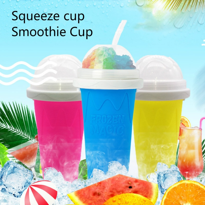 Quick-frozen Smoothies cup Homemade Slush and Shake Maker Household Fast Cooling Cup Ice Cream Maker