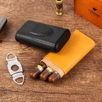 galiner cigar humidor case cedar wood portable humidor box travel mini leather cigars box for cohiba cigar accessories