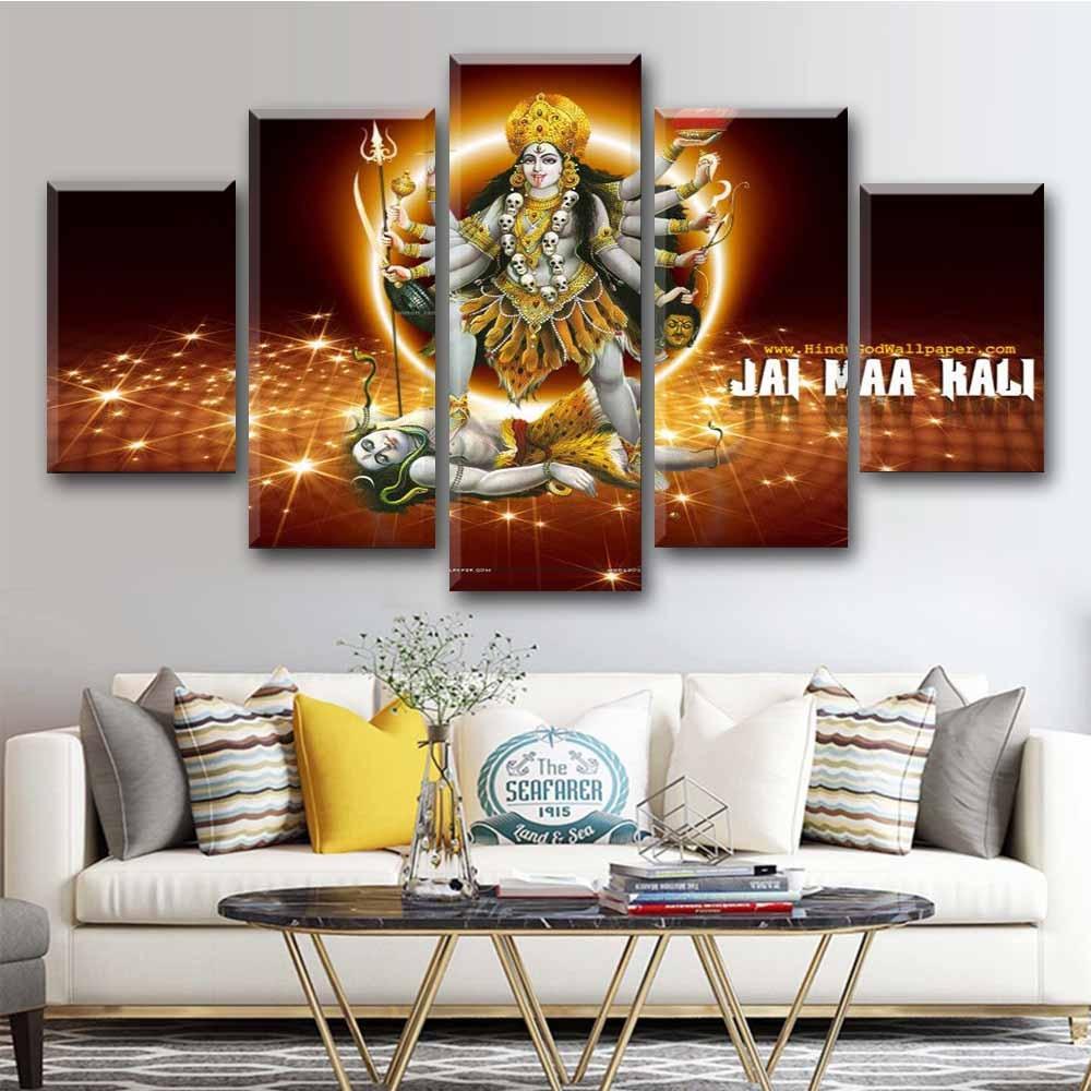 5 pedaço Pintura Hindu Deus Cartaz Da Arte Da Lona de Parede Imagem Cuadros Indain Deus Impresso Para Sala de estar Decoração de Casa Decoração