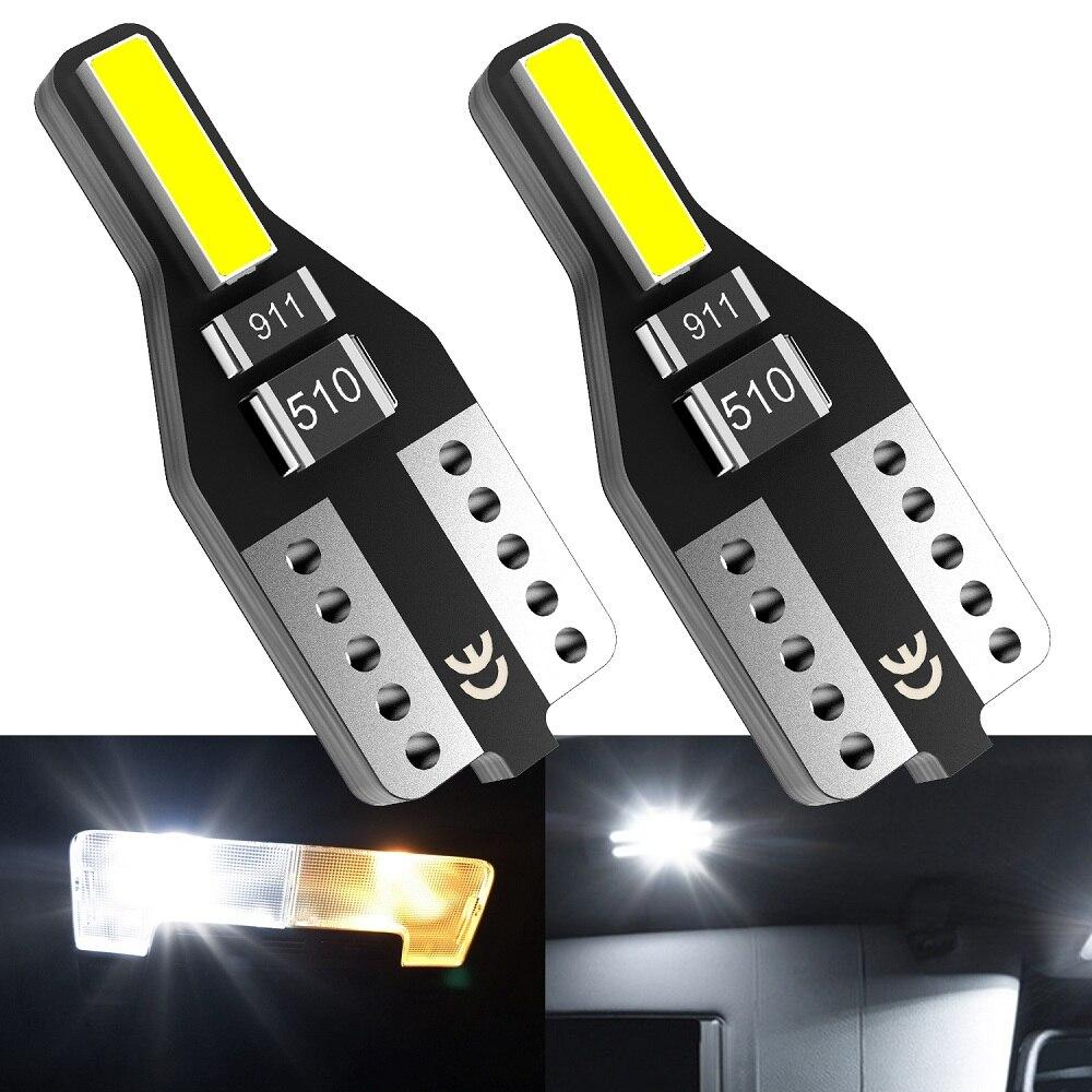 2 sztuk T10 W5W LED światła wnętrza samochodu 12V 168 194 światła do czytania dla Audi A3 A4 B6 B8 A6 c6 80 B5 B7 A5 Q5 Q7 TT 8P 100 8L C7 8V