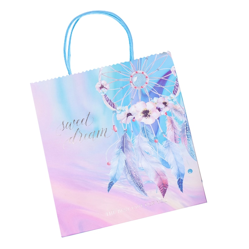 Creative Painted Paper Bags Gift Packaging Tote Bag Birthday Party Wedding Celebration Holiday Candy