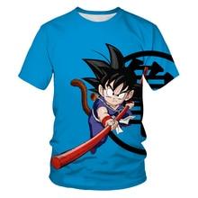 ฤดูร้อนขายร้อน3DT เสื้อ Anime การ์ตูน Dragon Ball ตัวอักษร Boy/สาวแฟชั่น Cool Trend สั้นคอ O-Neck เสื้อยืด