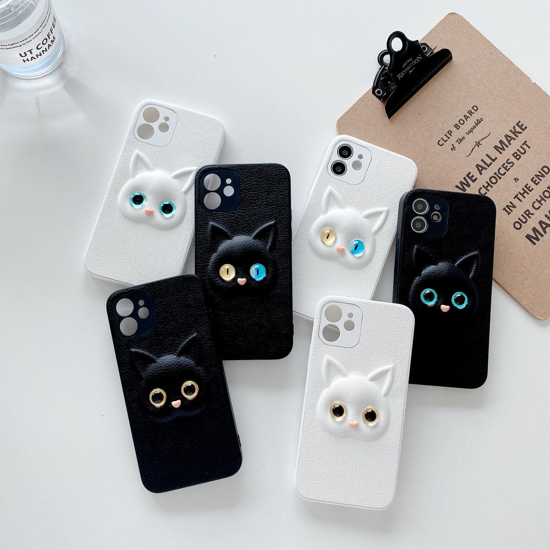 caso de telefone para o iphone 12 pro max 6s 7 8 plus x xr xs max 3d bonito dos desenhos
