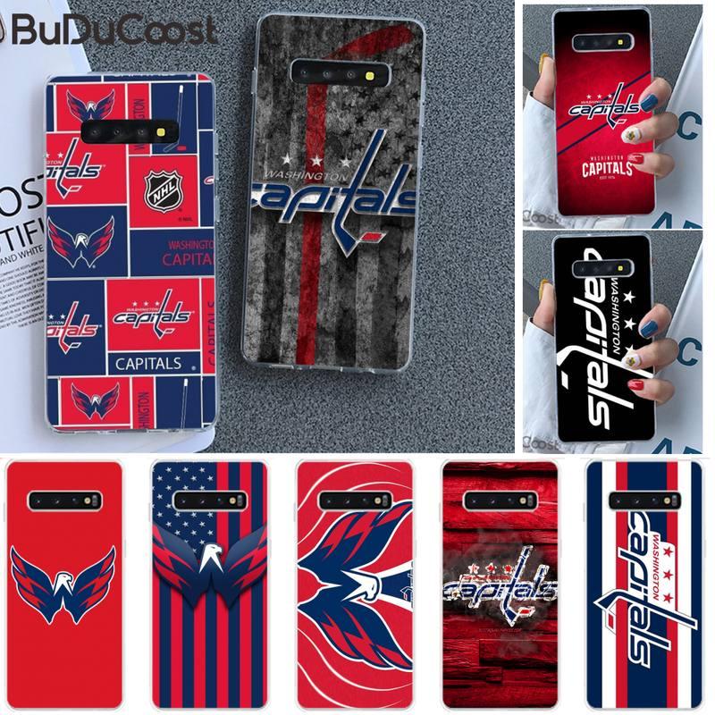 Riccu Washington hockey team badge DIY Phone Case for Samsung S9 plus S5 S6 S7 edge S8 S10 plus