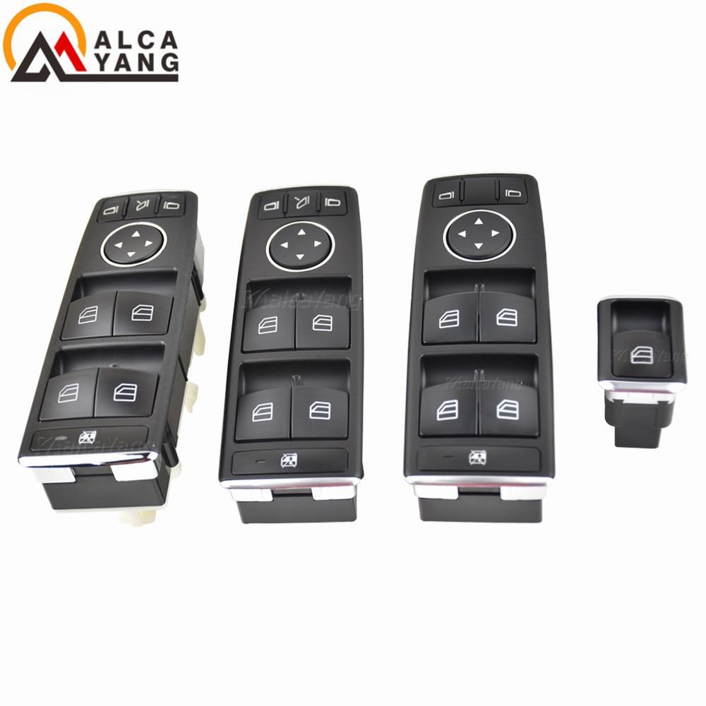 Botón de interruptor de ventanilla principal eléctrico A2049058202 para Mercedes Benz W204 W212 C207 A207 C Clase E X204 A2128208310 LHD