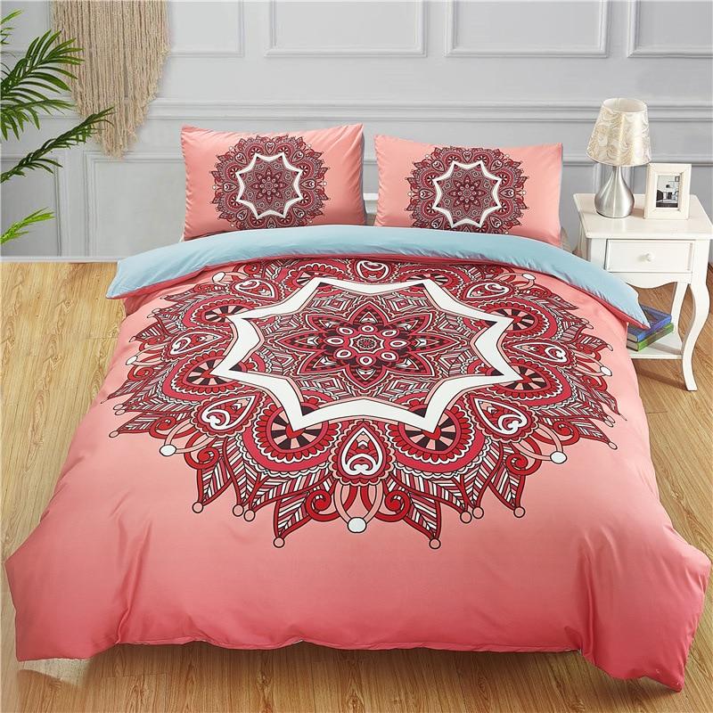طقم سرير على شكل القمر حجم الملكة غطاء لحاف دريم كاتشر أبيض مزدوج طقم ملاءة سرير housse de couette المفارش 3 قطعة