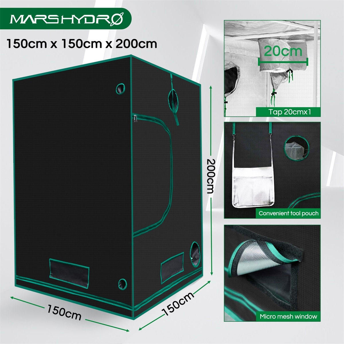 Mars Hydro SP 3000 LED Grow Light And 150x150cm Grow Tent for Indoor Plants Veg Flower Replace HPS/HID Hydroponics Full Spectrum enlarge
