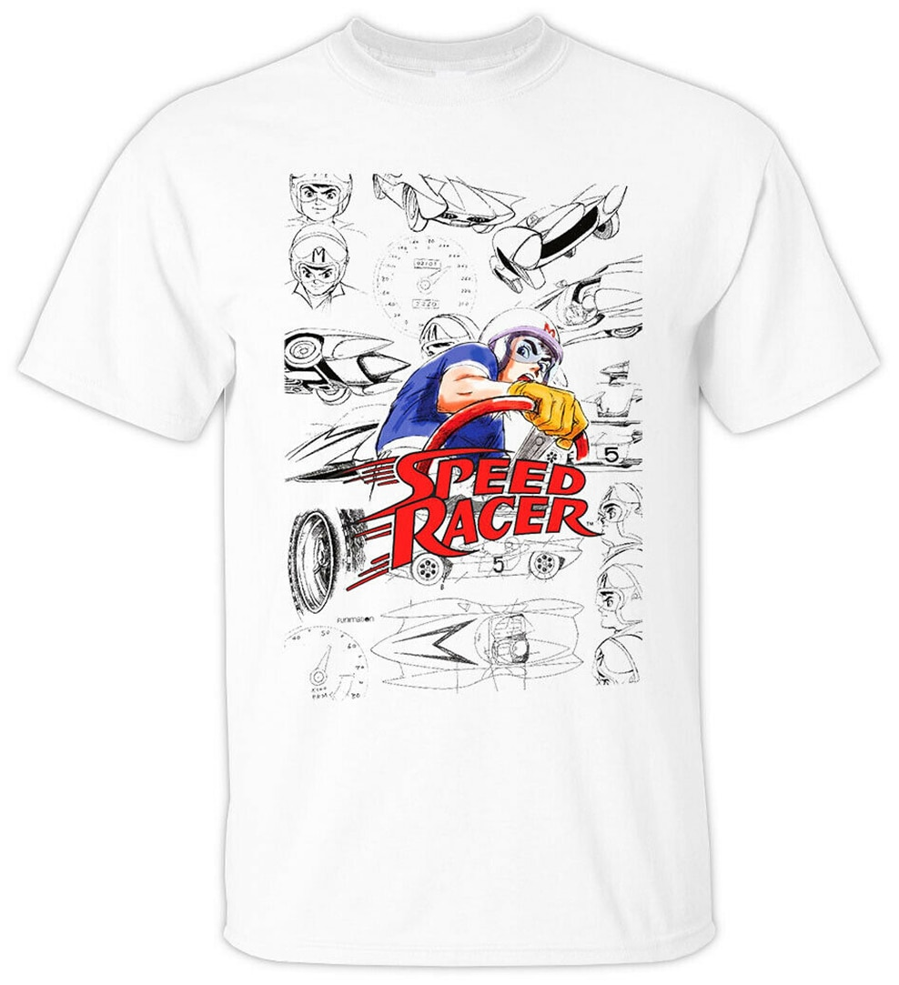 Camiseta de animé Speed Racer V1 Tatsuo Yoshida 1967 (blanco) todas las tallas S-3Xl camiseta al por mayor