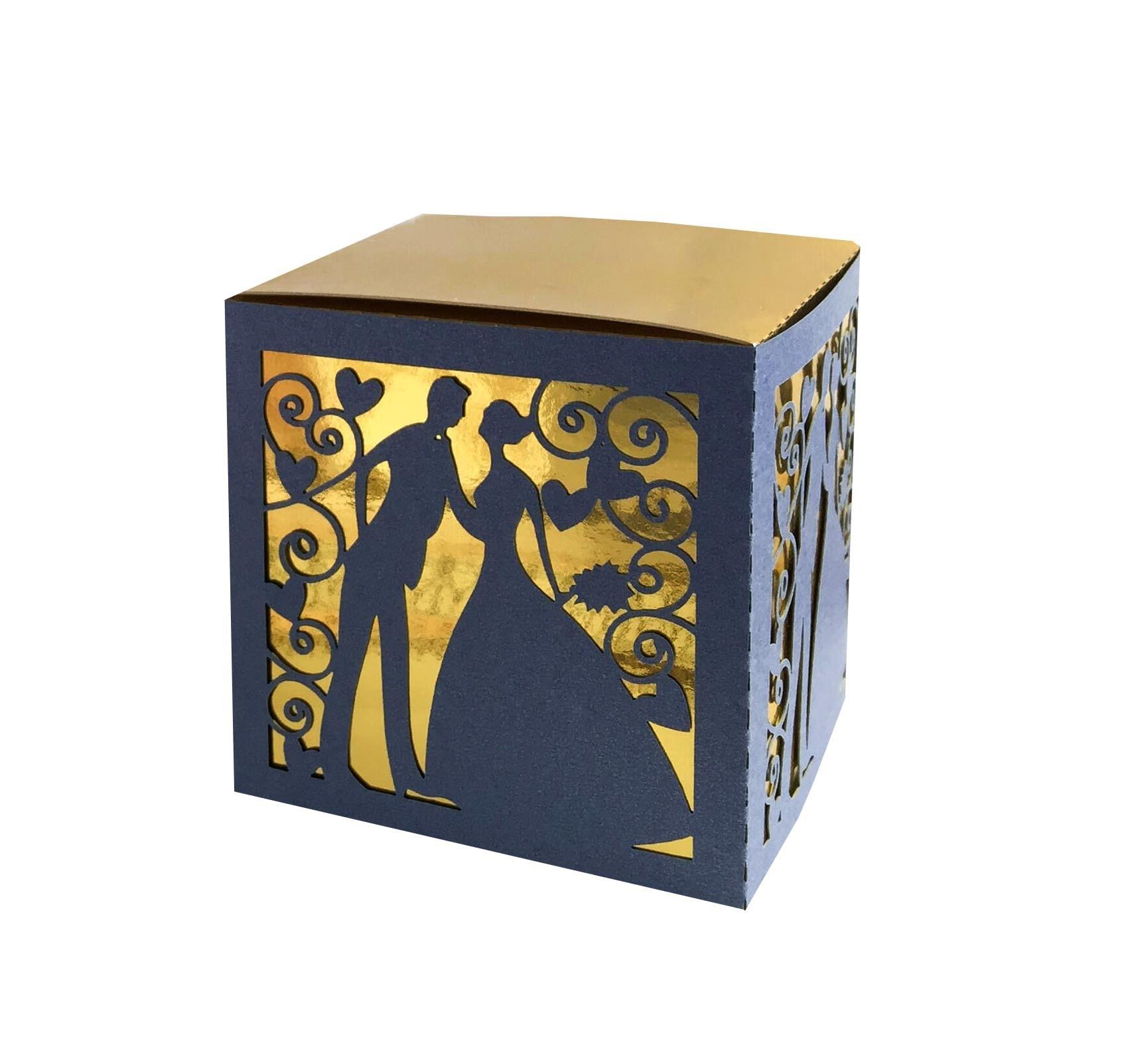 Caja de dulces de boda con nota de música cortada con láser cajas de cinta de embalaje de Chocolate dulce para suministros de decoración de ducha de bebé para fiesta de boda