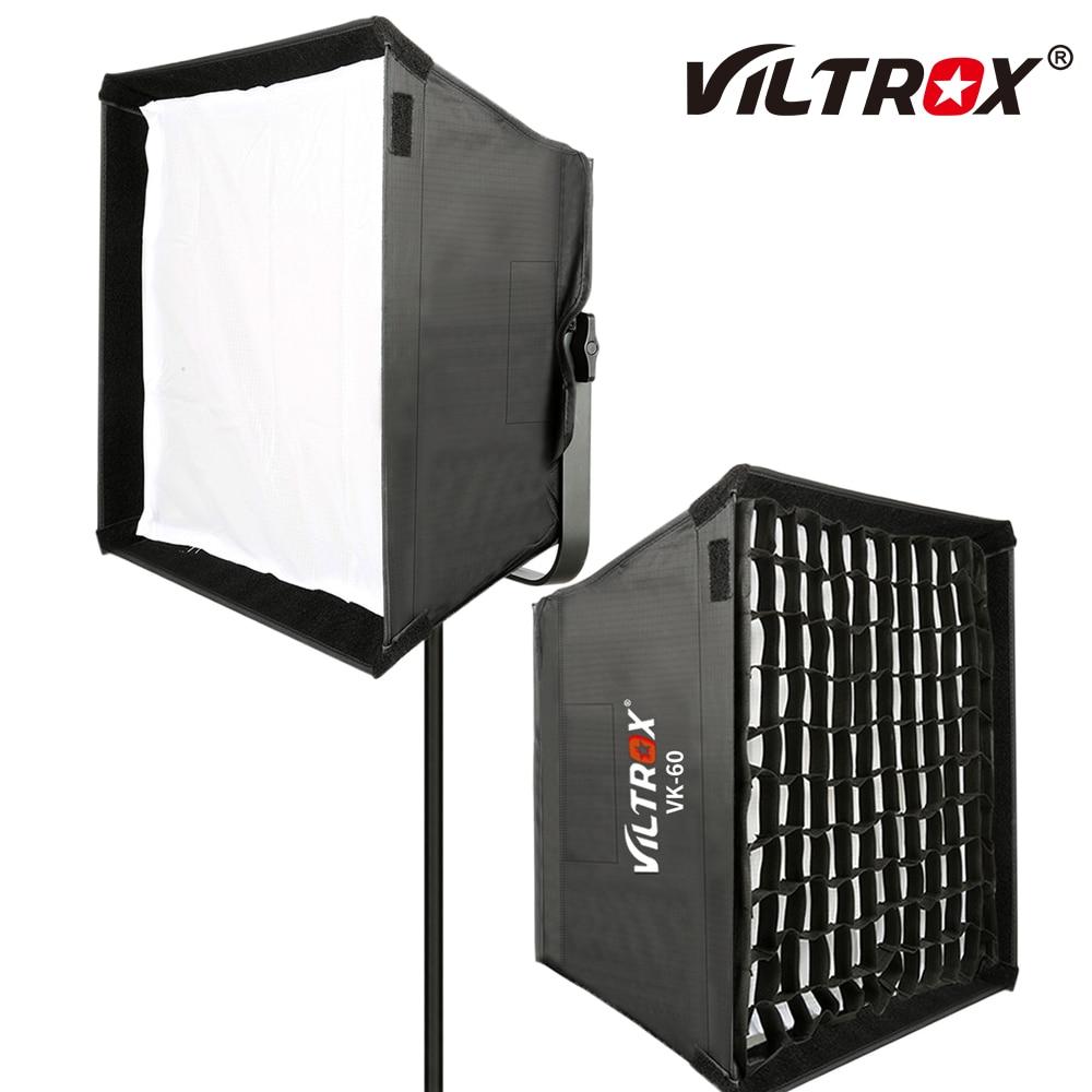 Viltrox VK-60 Photography LED light SoftBox diffuser Lighting Kits Fold Outdoor Umbrella for Viltrox VL-40T VL-50T VL-60T VL-85T