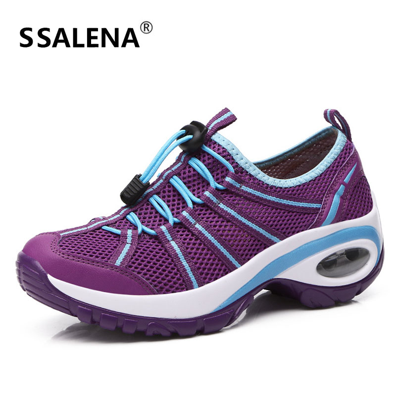 Zapatos de senderismo de montaña de mujer de malla transpirable antideslizante zapatillas de deporte de plataforma de mujer Zapata de senderismo AA51830