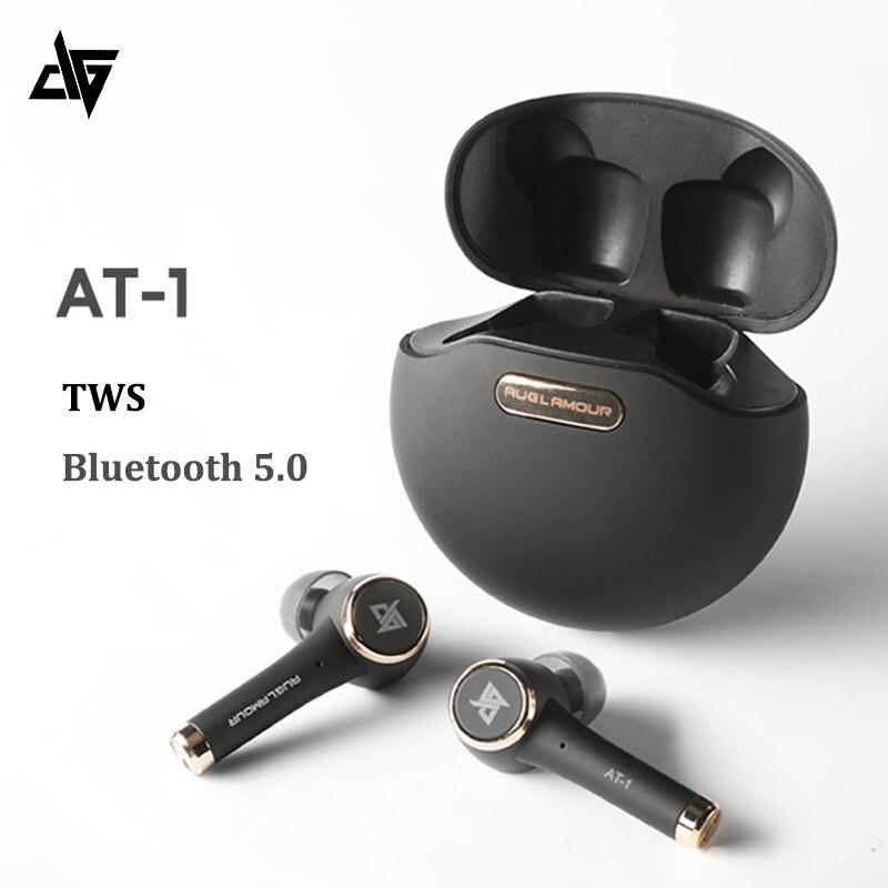 Original auglamour at-1 tws bluetooth 5.0 fones de ouvido sem fio inteligente toque fone de ouvido ipx5 à prova dwaterproof água com microfone cancelamento de ruído