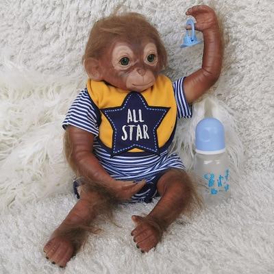 Bebé Reborn de silicona y mono realista y realista, juguetes para niños y niñas, muñecas bebés Reborn populares, muñeco bebé Reborn de tacto suave