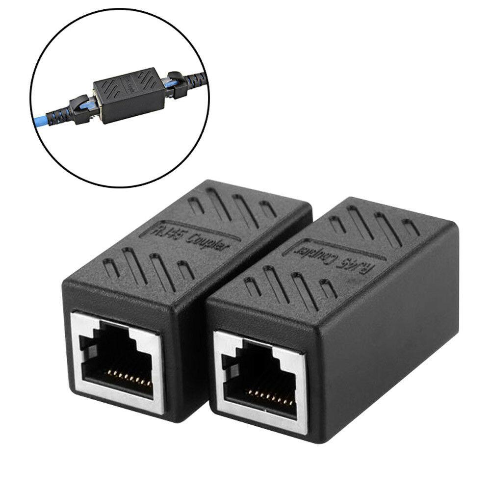 5PC Ethernet Cat5e Rj-45 Female Network LAN Coupler Extender Connector Adapter!!