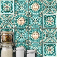 10pcsset 1520cm diy italy style mosaic wall stickers waist line kitchen adhesive bathroom toilet waterproof pvc wall sticker