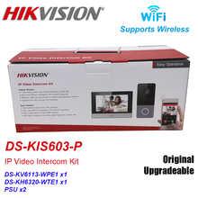 Hikvision DS-KIS603-P IP видео домофон комплект DS-KV6113-WPE1 + DS-KH6320-WTE1 Стандартный POE дверной станции WI-FI монитор