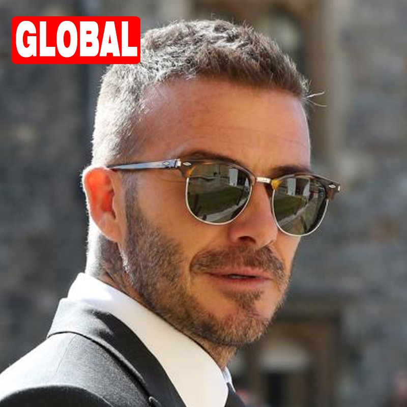 2021 Fashionable Polarized Sunglasses Men Luxury Brand Design Cat Eye Semi Rimless Classic Shades Ma