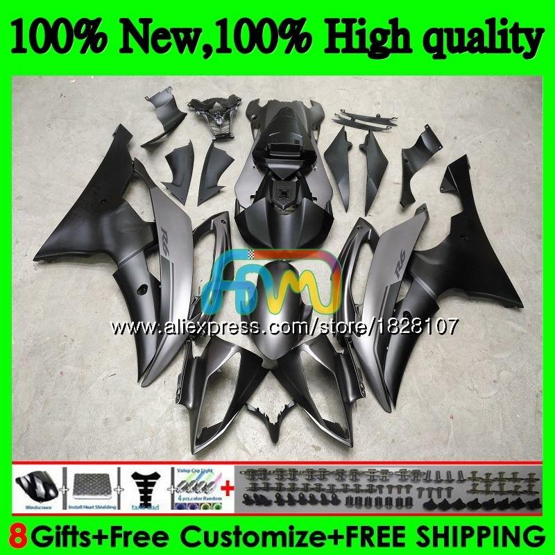 YZF-R6 لياماها YZF600 YZF-600 YZFR6 08 09 10 11 12 63BS.0 YZF 600 R 6 YZF R6 2008 2009 2010 2011 2012 Fairings ماتي اللون