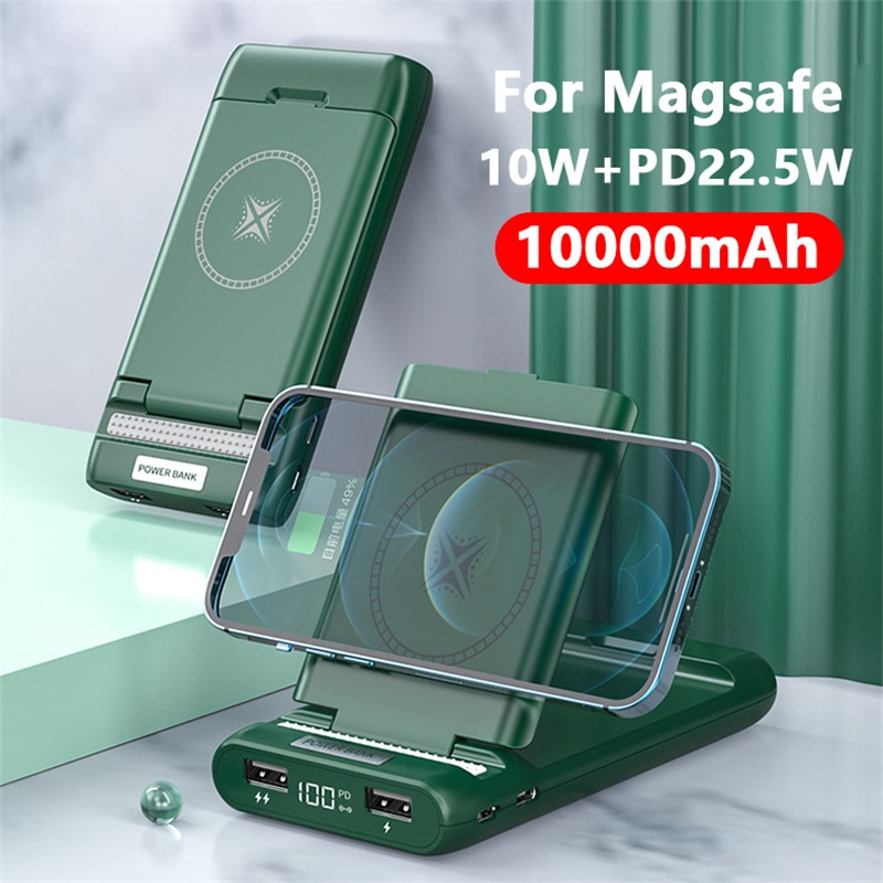 10000mAh Portable Magnetic Wireless Power Bank For apple 12 magsafe charger Powerbank For iphone 12Pro 12promax External battery