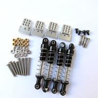 Металлические Мини-амортизаторы + амортизатор для WPL C14 C24 D90 D91 D99S RC автомобильные запчасти для модификации